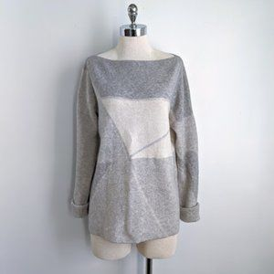 Vince Cashmere Blend Sweater in Grey